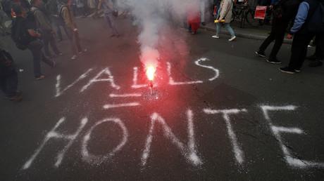Inscription réalisée durant la manifestation contre la loi travail mardi 14 juin