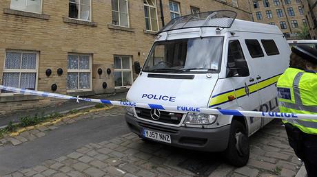 Un véhicule de la police britannique