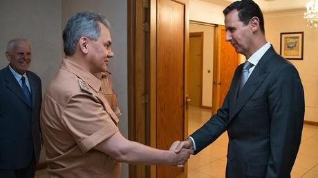 Sergueï Choïgou et Bachar el-Assad