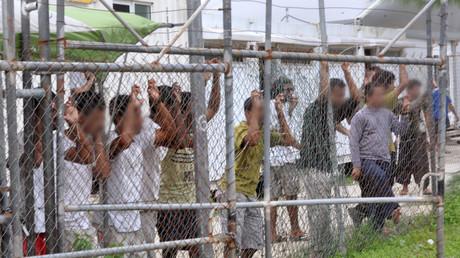 Des demandeurs d'asiles dans un centre de détention de Papouasie-Nouvelle-Guinée