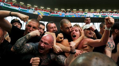 Des supporters hongrois