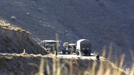 Convoi militaire algérien dans la région de Médéa
