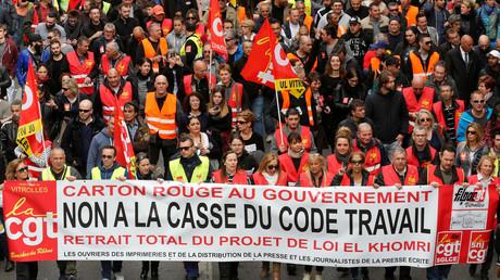 Des manifestants contre la loi travail à Marseille le 3 juin dernier
