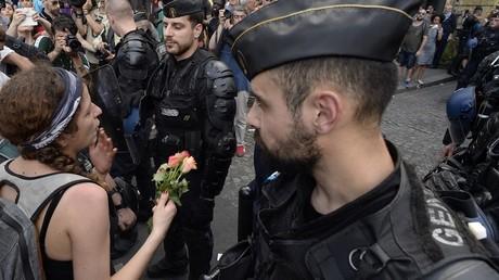 Le cortège s'est déroulé dans une ambiance bon enfant malgré une grosse présence policière