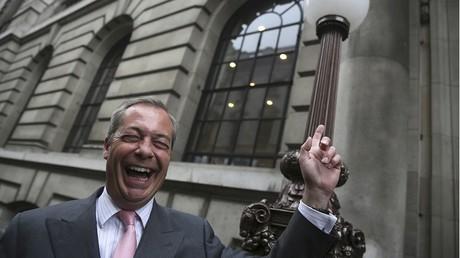 L'une des figures de proue du Brexit, Nigel Farage