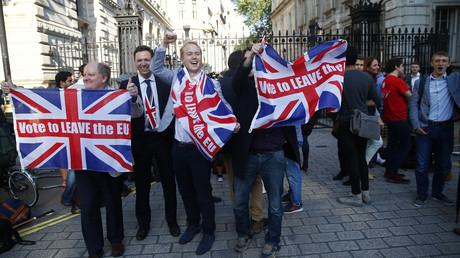 Des partisans du Brexit dans les rues de Londres