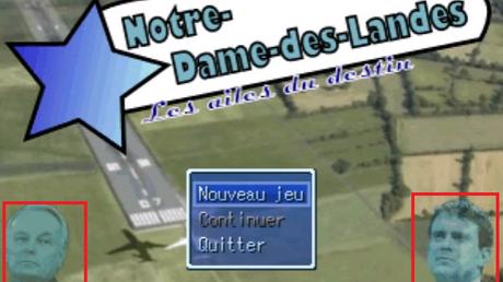 Manuel Valls dans un jeu vidéo parodique de Notre-Dame-des-Landes