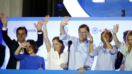 Le Premier ministre Mariano Rajoy après la victoire de son parti lors des élections législatives de dimanche 26 juin