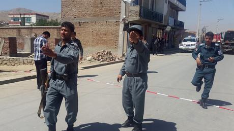 Des policiers afghans à Kaboul