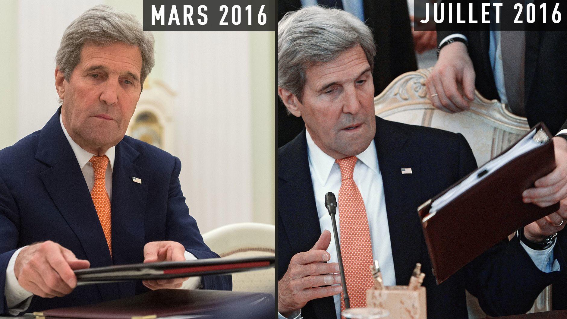 John Kerry à Moscou : une cravate porte-bonheur ? (EN IMAGES)
