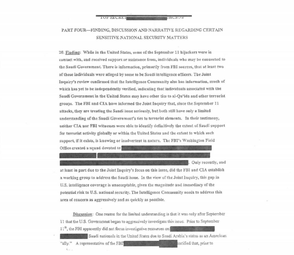 11 septembre : le congrès américain rend publiques 28 pages d'informations secrètes