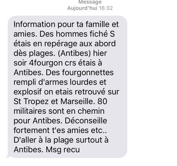 «80 militaires sont en chemin pour Antibes» : un faux SMS viral provoque un début de panique