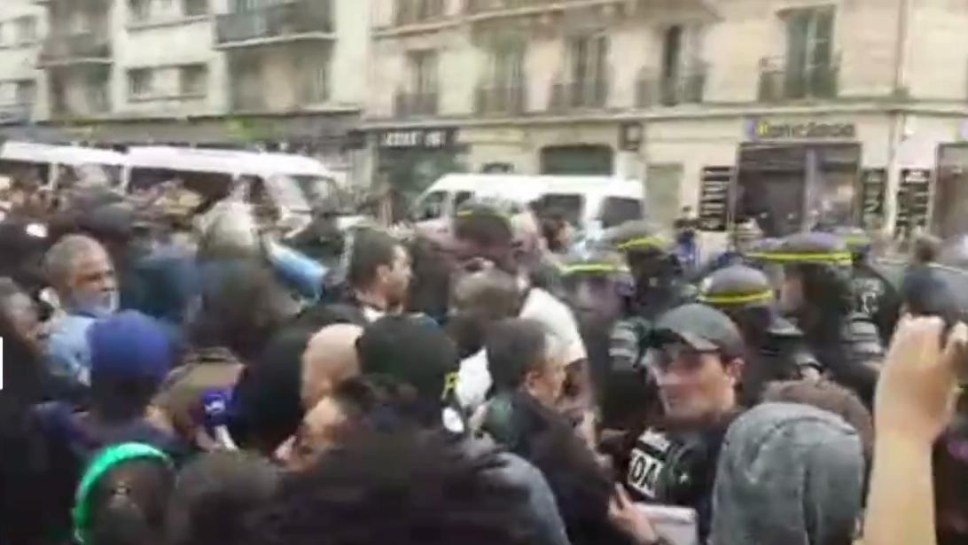 Manifestation à la mémoire d'Adama Traoré à la Gare du Nord à Paris