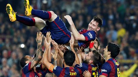Lionel Messi lors d'une victoire du FC Barcelone