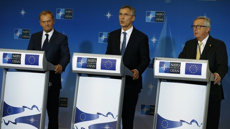 Donald Tusk,Jens Stoltenberg et Jean-Claude Juncke