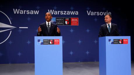 Obama et son homologue polonais Andrzej Duda.