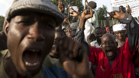 Des manifestants au Mali en 2014