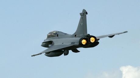 Un avion de chasse «rafale» français.