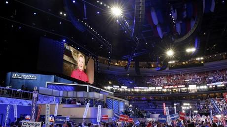 La convention du Parti démocrate à Philadelphie.