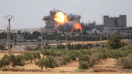 Une frappe aérienne en Syrie