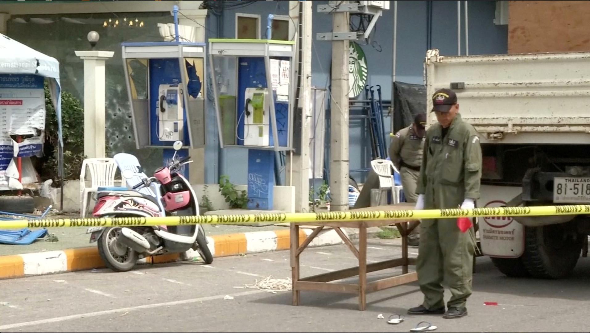 Le site de l'explosion à Hua Hin