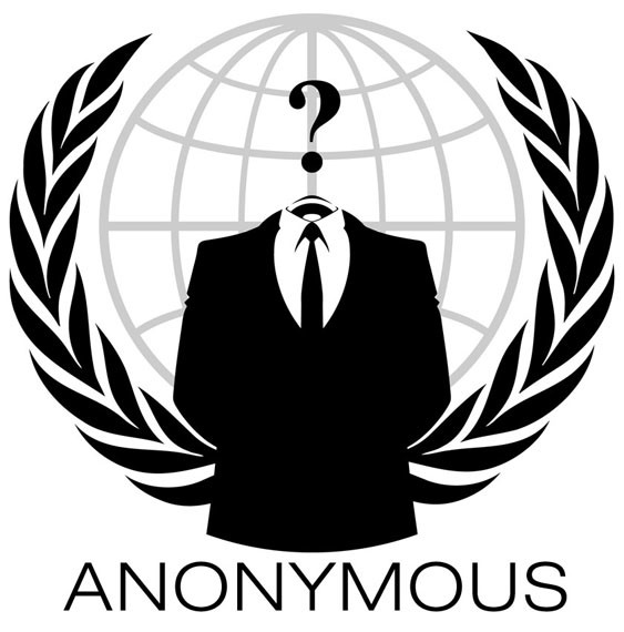 Le logo du groupe Anonymous