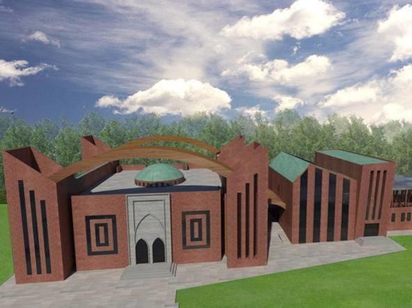 Rendu d'architecte du projet de mosquée à Pise