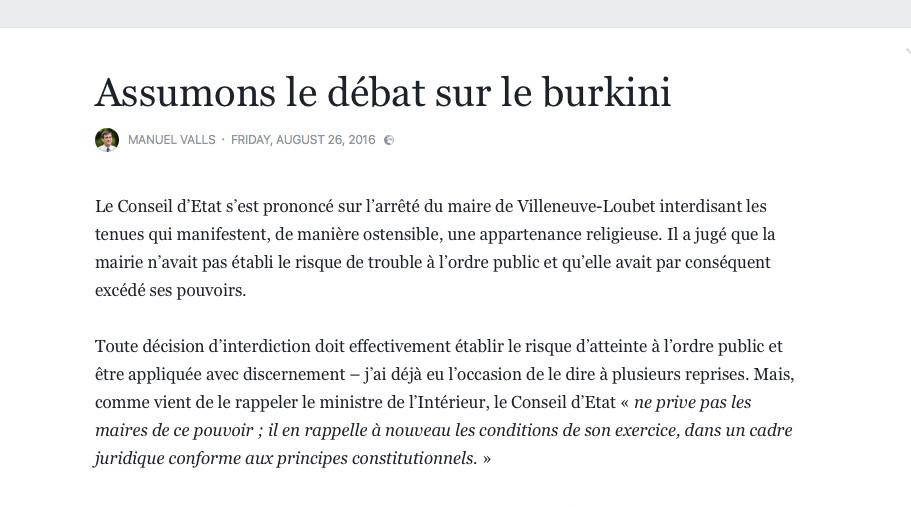 Burkini : après l'ordonnance du Conseil d'Etat, la classe politique toujours divisée