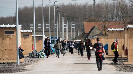 Un camp de migrants près de Grande-Synthe, dans le Nord.