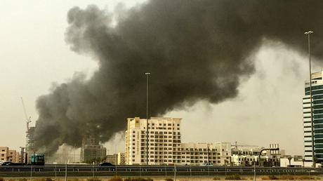 Important incendie dans un immeuble en construction à Dubaï (IMAGES)