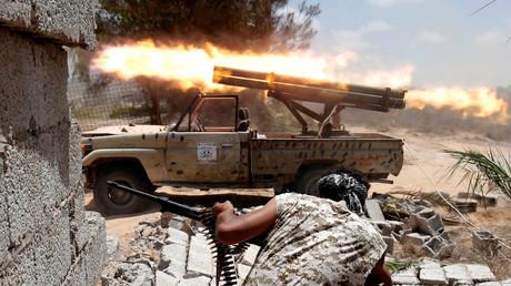 Un combattant loyaliste du GNA, à Syrte.