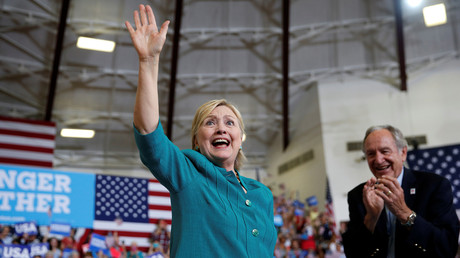Hillary Clinton lors d'un meeting électoral