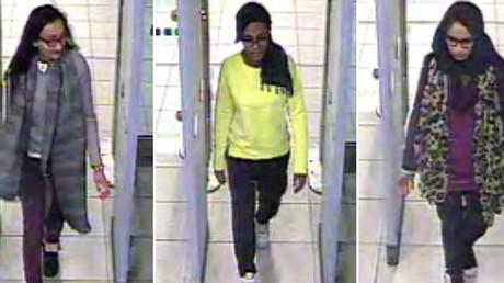Kadiza Sultana (gauche), Amira Abase et  Shamima Begum ont fui Londres pour rejoindre Daesh