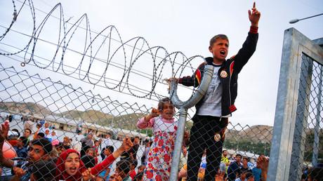 Un camp de réfugiés près de Gaziantep, en Turquie.