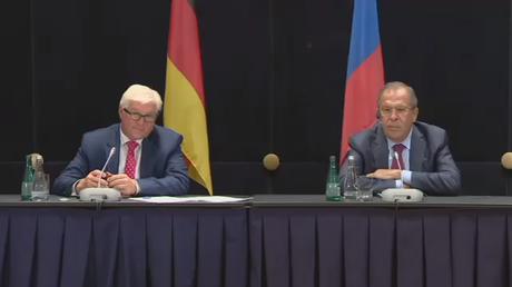 Conférence de presse de Sergueï Lavrov et Frank-Walter Steinmeier