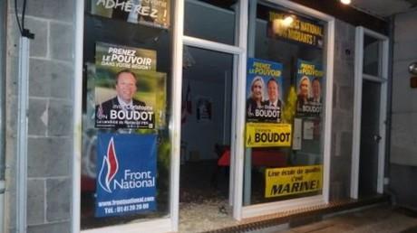 La permanence du Front National d'Aurillac lors d'une précédente dégradation (Archives)