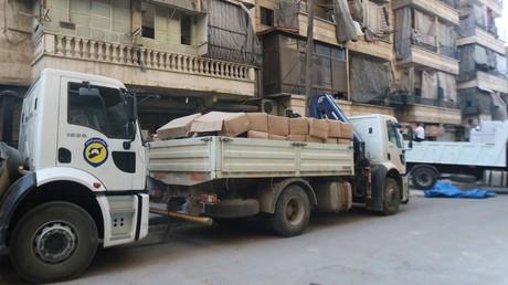 Livraison d'aide humanitaire à Alep