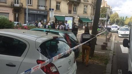 La police sur les lieux de l'incident à Strasbourg
