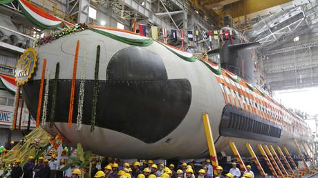 L'un des sous-marins Scorpène acquis par l'armée indienne.