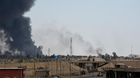 La ville de Qayyarah, reprise par les forces irakiennes.