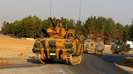 Des chars turcs en Syrie