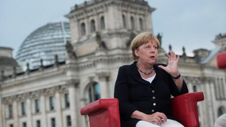 Angela Merkel lors de son entretien avec la télévision ARD