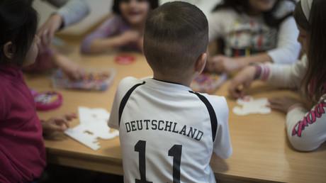Des enfants réfugiés dans un centre en Allemagne