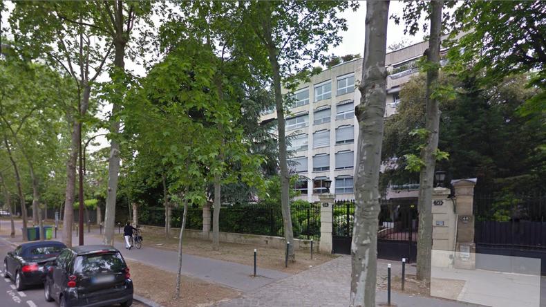 L'appartement devant lequel avait lieu le sit-in, à Neuilly-sur-Seine.