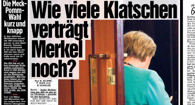 Allemagne : Angela Merkel s'obstine après le succès de l'AfD aux régionales