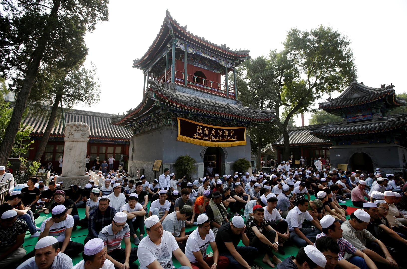 En Chine aussi, des musulmans célèbrent l'Aïd – ici dans une mosquée de Beijing.
