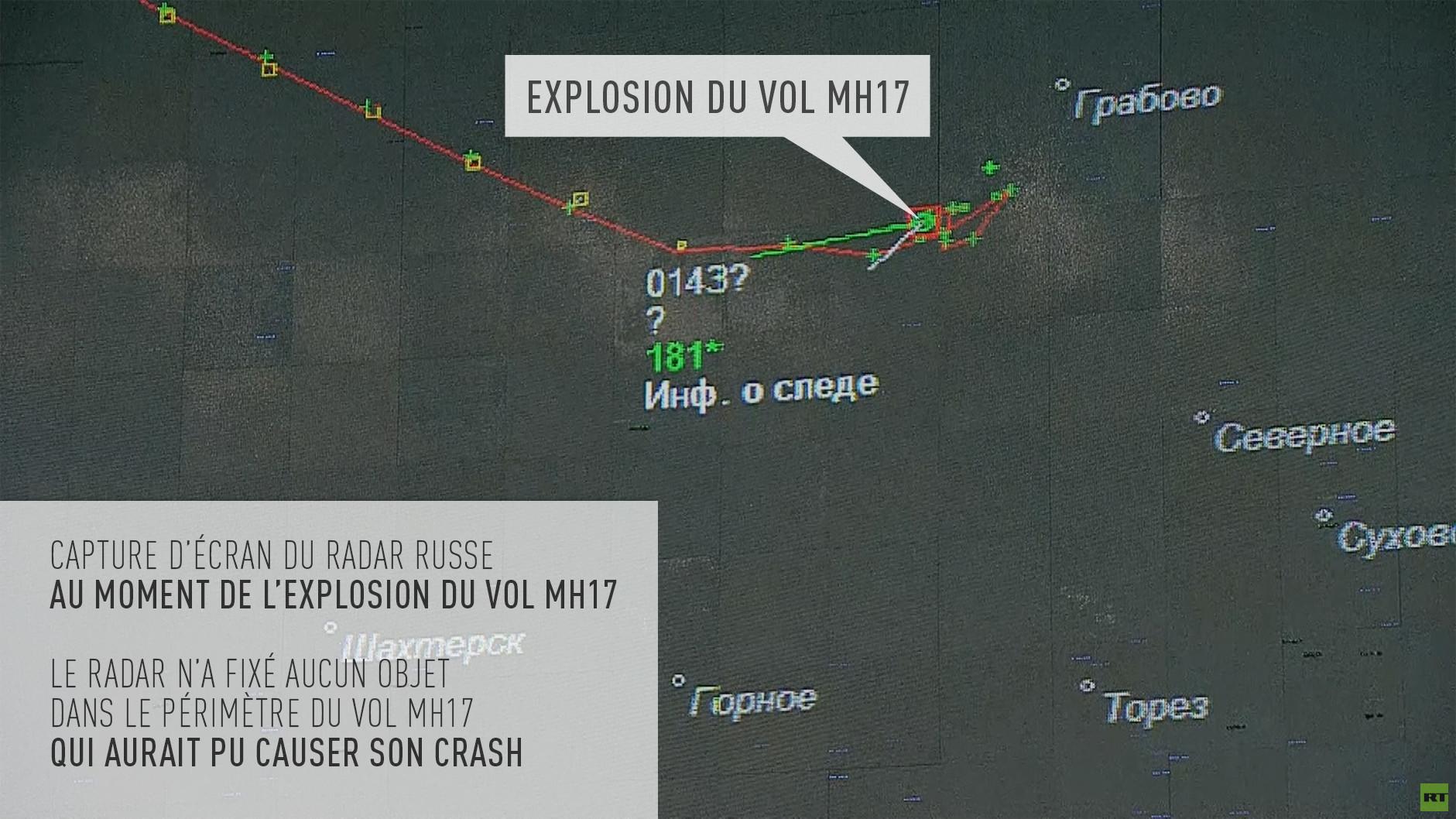 Moscou : le radar russe n'a pas détecté d'objet suspect près du site du crash du vol MH17 en 2014
