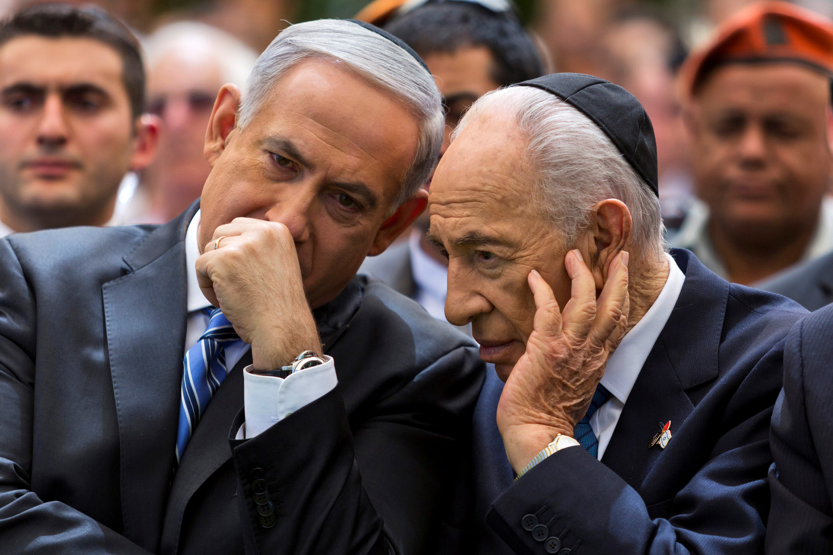 Benjamin Netanyahu et Shimon Peres