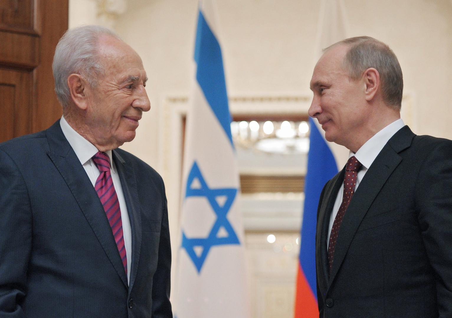 Shimon Peres et Vladimir Poutine