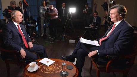 Vladimir Poutine lors de l'interview à Bloomberg